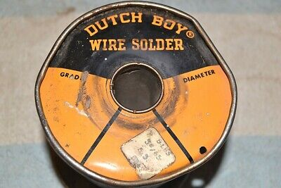 Dutch Boy Solid Wire Electronic Solder 3.6 Pound Remains Of Spool Vintage Usa