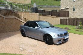 BMW M3 Convertible, 6 speed manual, 343 bhp, low mileage 72k, £11,500