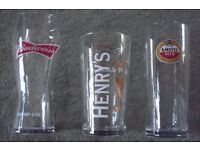 BRAND NEW PINT GLASSES VARIOUS DESIGNS