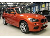 BMW X1 SDRIVE18D M SPORT [1 OWNER / NAV / CREAM LEATHER] (valencia orange metallic) 2014