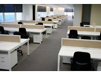 48 - CALL CENTRE BENCH DESKS-WHITE BRAND NEW INCREDIBLE -1400MM X 700MM