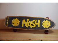 Vintage Old School Nash Tuf Top Skateboard Twin Saw Blades w/ XR-2 Wide Trucks