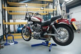 EazyRizer Big Blue Professional wheel free Motorcycle Lift. Offers Welcome.