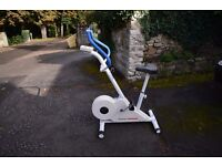 Exercise bike with electronic readout