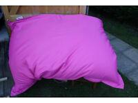 Very large Pink Bean Bag