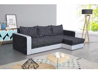 delivery 1-10 days CARDIFF Brand new Corner Sofa Bed Sofa Corner Function Container for bedding