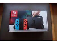 Nintendo Switch Neon, with Zelda.
