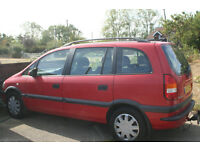 Vauxhall Zafira Comfort Dti 7 seat owned by same family for last 10 years