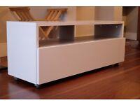 Habitat KUBRIK White High Gloss AV TV Unit - perfect condition. Pickup only (Tooting area)