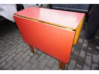 Stunning Red Retro 1970s Formica Drop Leaf Kitchen Table FREE DELIVERY CENTRAL EDINBURGH