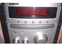 Sony 5 stack CD MP3 Player with speakers