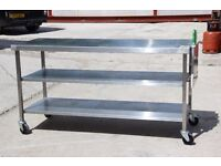 Stainless Steel Preparation Table. Sensible Offers Taken.