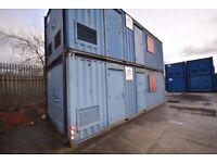 26ft x 10ft Steel Welfare Unit c/w Toilet, Canteen, Drying Area, Office & Generator Housing.