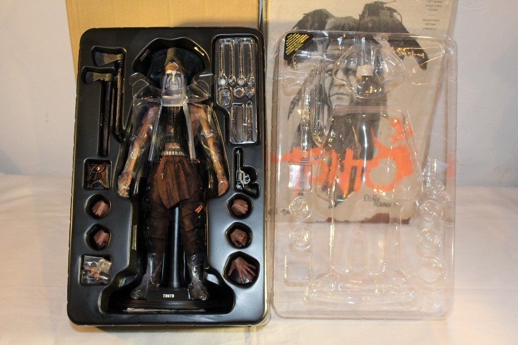 Hot Toys The Long Ranger Tonto 1/6 Scale Figure New with Brown Shipper Box