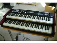 Hammond SK2 organ, as new, P50 expression pedal, manual & box