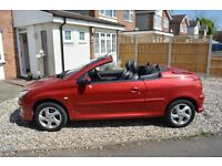 Peugeot Allure 206CC 1.6 in Diablo metallic red - LOW MILEAGE - VGC - 2004