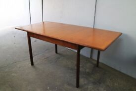 1970's mid century retro extending dining table by White and Newton