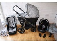 Venicci 3V pram pushchair with car seat travel system 3 in 1 - grey CAN POST