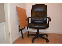 IKEA office chair and folding table very good condition