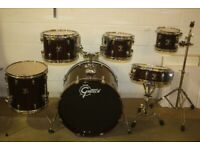 Gretsch Catalina Ash Series Dark Walnut Lacquered 6 Piece Drum Kit 22in Bass Drums Only - £375 ono