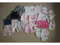 Large bundle of baby girls summer clothes