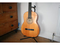 Full size nylon stringed guitar