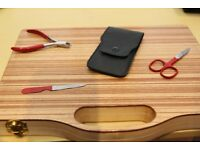 3Pcs red coated plated Manicure Set (HIGH QUALITY )