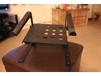 Power Dynamics Black Universal Laptop Stand with Shelf