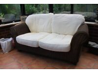 Two seater sofa for a conservatory