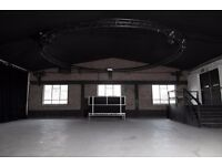 Studio location for events, filming and photo shoots in Hackney Wick warehouse conversion