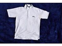"Vintage Umbro Small Boys, Girls, Men's or Ladies White Polo Collar T-Shirt Top C37"""