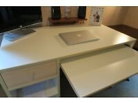 White IKEA Flat Pack Desk