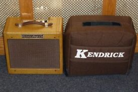 Victoria Amp Co tweed Fender Champ 518 valve combo with Kendrick padded gig bag
