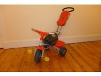 Child's Pedal Tricycle with Detachable Parents Handle