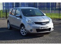 2010 NISSAN NOTE N-TEC 1.4 PETROL*SAT NAV*BLUETOOTH*SERVICE HISTORY*1 OWNER*3 MONTHS WARRANTY*