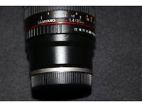 Samyang 85mm F1.4 Fully Manual Lens for Sony E Mount