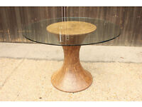 Office Table Reception area Display Occasional Table Glass Top.