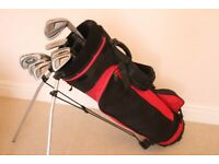 Set of Golf Clubs in Carrying Bag with Stand