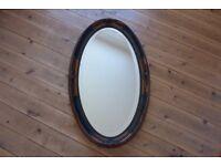 Antique Oval Mirror 1900-1950.