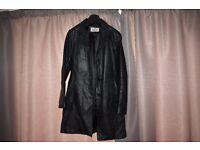 vali leather coat size 14