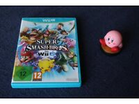 Super Smash Bros. 4 for Wii U and First Edition Kirby Amiibo