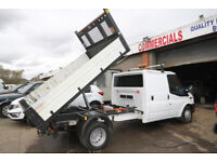 FORD TRANSIT 125 T-350 DOUBLE CAB TIPPER – 14-REG
