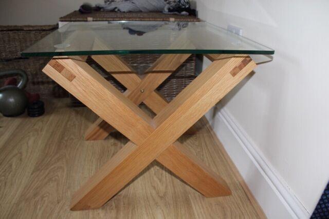 Furniture Village Glass Oak Sidelamp Table For Sale In Gillingham In Gillingham Kent Gumtree