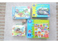 SELECTION OF 6 JIGSAWS, ALPHABET, PIRATE, POLICE CAR, PAW PATROL INCUDES 4 NEW ONES