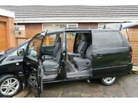 wheelchair accessible Toyota Previa T spirit D-4D (5 seats plus wheelchair)