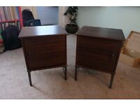 2 Mahogany Effect Bedside Cabinets