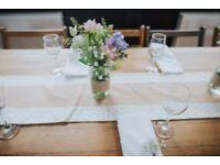 50 Plain White Napkins - Wedding
