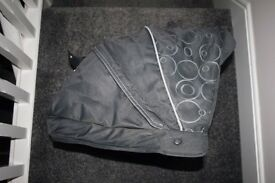 Silver Cross Freeway pram HOOD with rods in grey Charcoal -can post-