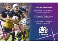 2 X SCOTLAND V ARGENTINA RUGBY TICKETS 19 NOVEMBER @ MURRAYFIELD EDINBURGH