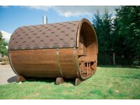 WOODEN SAUNA PODS DELIVERED AND INSTALLED FROM £3500, WOODEN HOT TUBS FROM £1800 DELIVERED